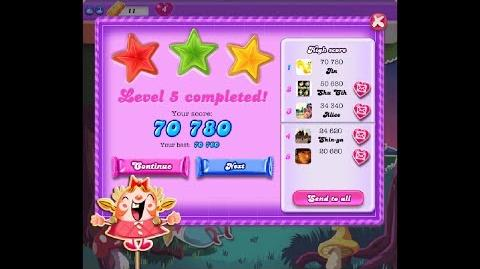 Candy Crush Saga Dreamworld Level 5 ★★★ 3 Stars