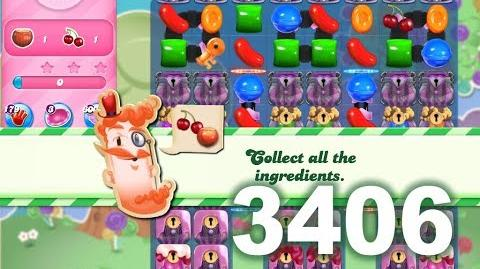 Candy Crush Saga Level 3406 (3 stars, No boosters)