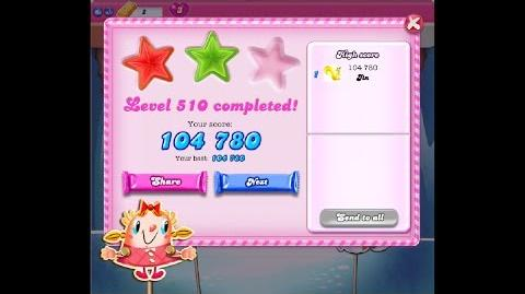 Candy Crush Saga Level 510 ★★ NO BOOSTER