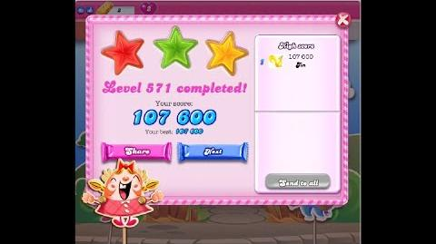 Candy Crush Saga Level 571 ★★★ NO BOOSTER