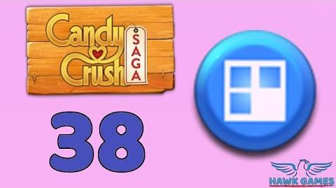 Candy Crush Saga 🎪 Level 38 (Jelly level) - 3 Stars Walkthrough, No Boosters