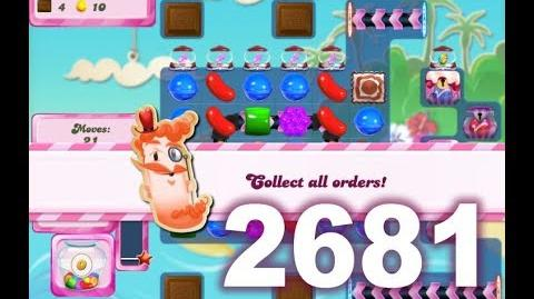 Candy Crush Saga Level 2681 (3 stars, No boosters)
