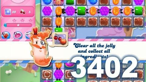 Candy Crush Saga Level 3402 (3 stars, No boosters)