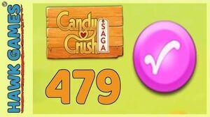 Candy Crush Saga Level 479 (Candy Order level) - 3 Stars Walkthrough, No Boosters