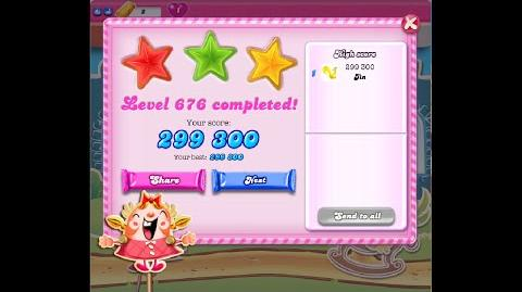 Candy Crush Saga Level 676 ★★★ NO BOOSTER