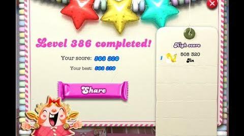 Candy Crush Saga Level 386 ★★★