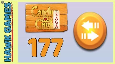 Candy Crush Saga Level 177 (Moves level) - 3 Stars Walkthrough, No Boosters