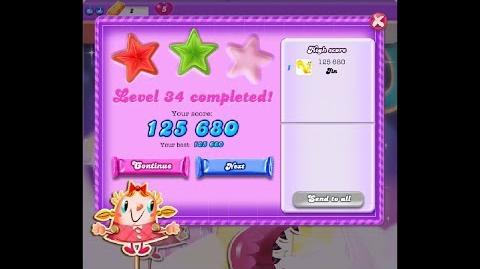 Candy Crush Saga Dreamworld Level 34 ★★ 2 Stars