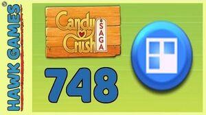 Candy Crush Saga Level 748 (Jelly level) - 3 Stars Walkthrough, No Boosters