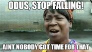 Odus stop falling