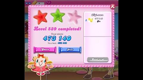 Candy Crush Saga Level 539 ★★ NO BOOSTER