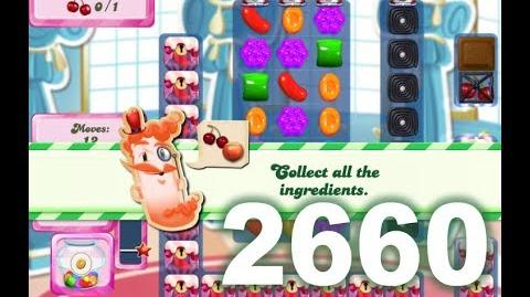 Candy Crush Saga Level 2660 (Facebook version bugs, 1 booster needed)