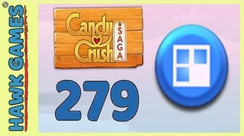 Candy Crush Saga Level 279 (Jelly level) - 3 Stars Walkthrough, No Boosters