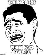 Pass level 437