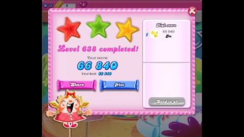 Candy Crush Saga Level 638 ★★★ NO BOOSTER