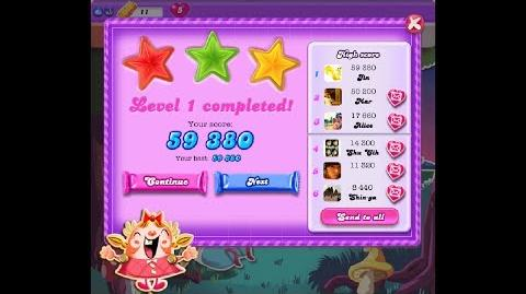 Candy Crush Saga Dreamworld Level 1 ★★★ 3 Stars