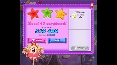 Candy Crush Saga Dreamworld Level 43 ★★★ 3 Stars