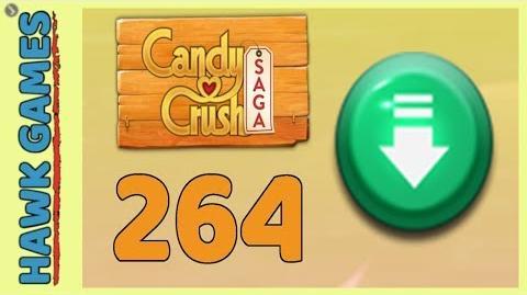 Candy Crush Saga Level 264 (Ingredients level) - 3 Stars Walkthrough, No Boosters