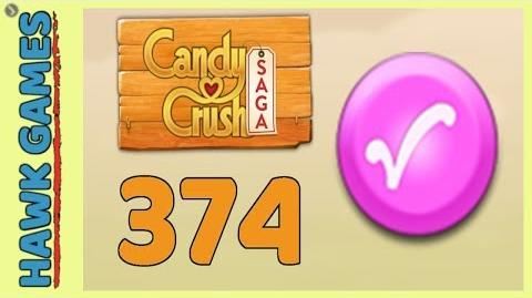 Candy Crush Saga Level 374 (Candy Order level) - 3 Stars Walkthrough, No Boosters