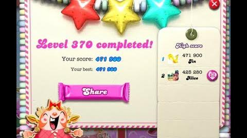 Candy Crush Saga Level 370 - NO BOOSTER