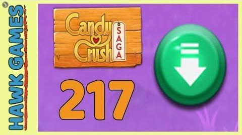 Candy Crush Saga Level 217 (Ingredients level) - 3 Stars Walkthrough, No Boosters