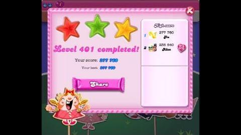 Candy Crush Saga Level 401 ★★★