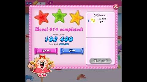 Candy Crush Saga Level 614 ★★★ NO BOOSTER