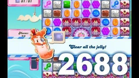 Candy Crush Saga Level 2688 (3 stars, No boosters)