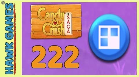 Candy Crush Saga Level 222 (Jelly level) - 3 Stars Walkthrough, No Boosters