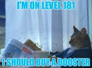Level 181 booster