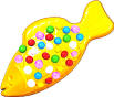Yellow Colour Bomb Fish