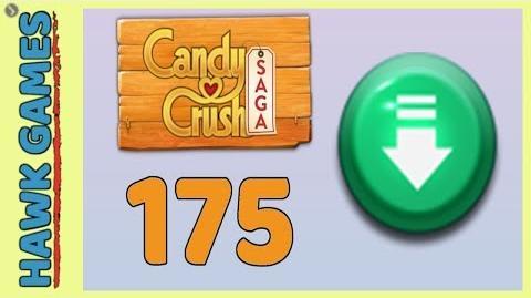Candy Crush Saga Level 175 (Ingredients level) - 3 Stars Walkthrough, No Boosters
