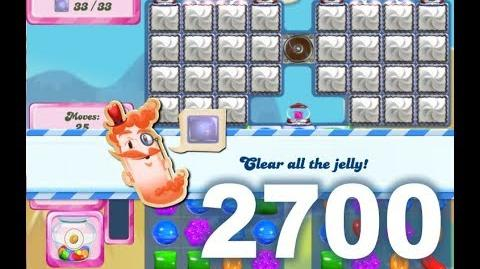 Candy Crush Saga Level 2700 (3 stars, No boosters)