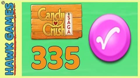 Candy Crush Saga Level 335 (Candy Order level) - 3 Stars Walkthrough, No Boosters