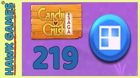 Candy Crush Saga Level 219 (Jelly level) - 3 Stars Walkthrough, No Boosters