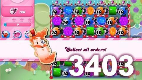 Candy Crush Saga Level 3403 (3 stars, No boosters)