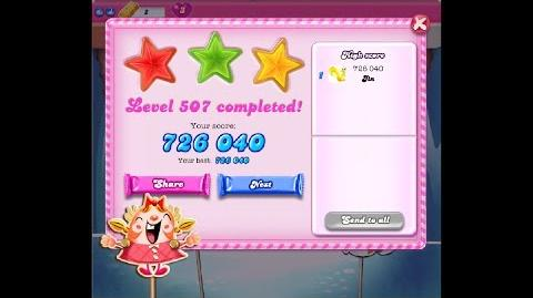 Candy Crush Saga Level 507 ★★★ NO BOOSTER