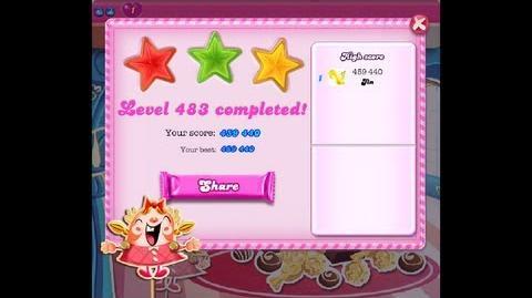 Candy Crush Saga Level 483 ★★★ NO BOOSTER