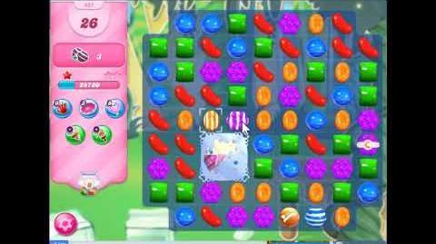 Candy crush saga level 421 No Booster, 3 stars