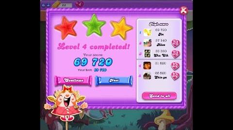 Candy Crush Saga Dreamworld Level 4 ★★★ 3 Stars