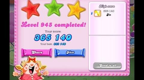 Candy Crush Saga Level 945 ★★★ NO BOOSTER