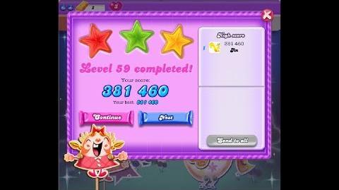 Candy Crush Saga Dreamworld Level 59 ★★★ 3 Stars