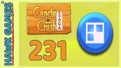 Candy Crush Saga Level 231 (Jelly level) - 3 Stars Walkthrough, No Boosters