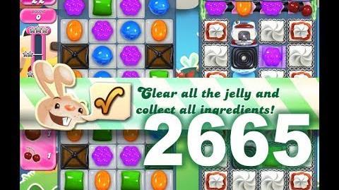 Candy Crush Saga Level 2665 (3 stars, No boosters)