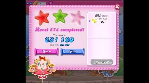 Candy Crush Saga Level 574 ★★ NO BOOSTER