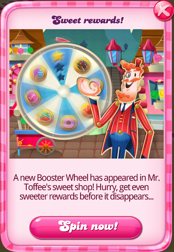 Candy crush spin wheel prizes and awards