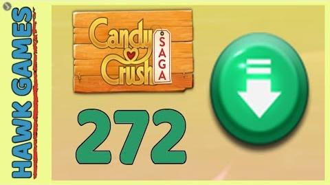 Candy Crush Saga Level 272 (Ingredients level) - 3 Stars Walkthrough, No Boosters