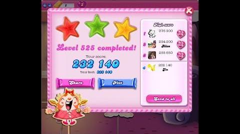 Candy Crush Saga Level 525 ★★★ NO BOOSTER