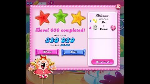 Candy Crush Saga Level 636 ★★★ NO BOOSTER
