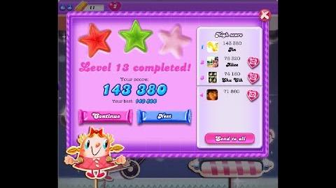 Candy Crush Saga Dreamworld Level 13 ★★ 2 Stars
